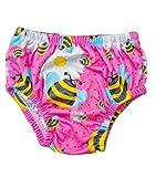 Costume Ellepi Contenitivo Neonato Pannolino Costumino Mare Piscina Slip Bambino Bambina Nuoto 0 1 3 6 9 12 18 24 Mesi (Fucsia, 3-9 mesi)