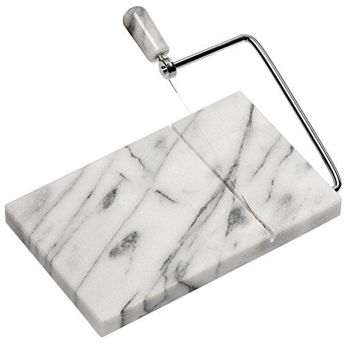 Premier Housewares Käseschneider, weißer Marmor, 13x21.5x2