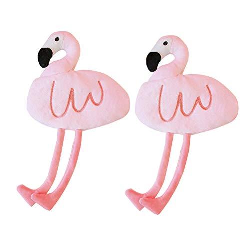 NUOBESTY Sac À Crayon Mignon Flamingo Papeterie Stylo Cas Étudiants Crayon Bourse Bourse De Maquillage Pochette De Rangement 2 PCS