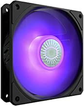 Cooler Master SickleFlow 120 V2 RGB 120mm Square Frame Fan with Customizable LEDs, Air Balance Curve Blade Design, Sealed Bearing, PWM Control for Computer Case & Liquid Radiator