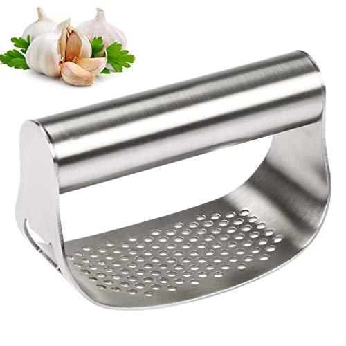 Knoblauchpresse Crusher Küche Knoblauchwippe Zerkleinerer Edelstahl Ingwerzerkleinerer Fleischwolf Leicht zu reinigen