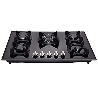 "Deli-mate 30"" Gas Cooktop Dual Fuel 5 Sealed Burners Gas Hob Tempered Glass Drop-In Gas Stove DM517-SA01 Gas Hob"