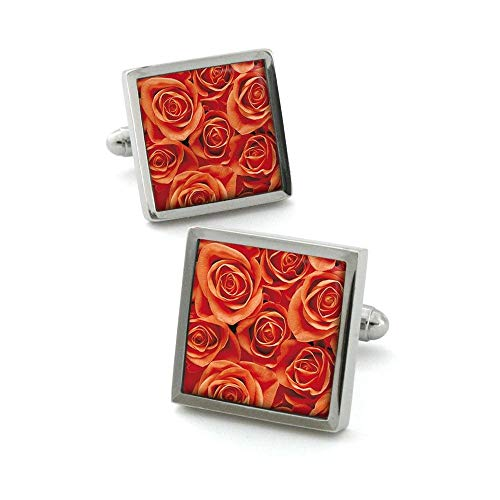 Robert Charles - Boutons De Manchette, Rose Orange