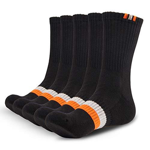 Gozlu Sneaker Socken Herren, 5 Paar Baumwolle Atmungsaktiv Sportsocken für Fitness, Laufen, Wandern, Radfahren, Anti-Blister Tennissocken mit Leichter Dämpfung, Gr. 41-46