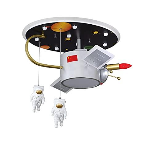 LIPETLI Candelabro de Dormitorio para NiñOs, LáMparas de HabitacióN Creativas de Dibujos Animados, EstacióN Espacial, AvióN Espacial, Planeta para Dormitorio Sala de Estar Comedor,A