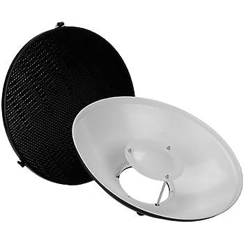50 Degree kit with Honeycomb Grid 70cm Beautydish Fotodiox Pro Beauty Dish 28 for Multiblitz Varilux Strobe Light