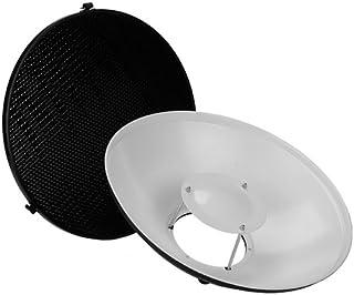 Fotodiox Pro Beauty Dish 40,6 cm mit Wabenraster und Speedring für Multiblitz Profilux Stroboskoplicht