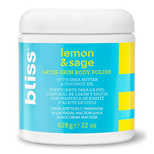 Lemon & Sage Satin Skin Body Polish With Shea Butter & Coconut Oil | Smoothing & Balancing Skincare | All Skin Types | Cruelty-Free | Paraben Free | 22 fl oz