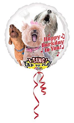 amscan 3127201 Folienballon Sing-A-Tune Happy Barkday
