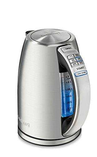 Cuisinart CPK-17AMZ Perfect Temp Cordless Programmable Kettle, Stainless Steel