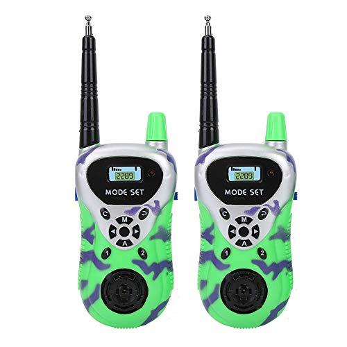 Walkies Talkies para niños, Radio de 2 vías, Mini niños de Mano Walkie Talkies para niños, Aventuras al Aire Libre, Camping, Senderismo(Green)