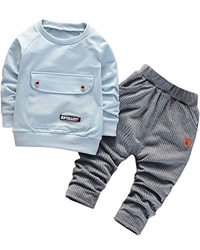 Little Boys 2 Pieces Clothes Set Infant Baby boys Outfits Sweatshirt...