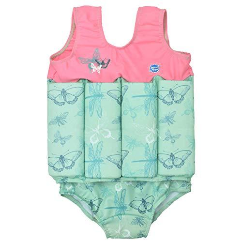 Splash About Mädchen Kinder-Schwimmanzug Mit Verstellbarem Auftrieb, Dragonfly, 2-4 Jahre