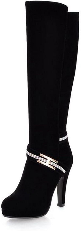 SaraIris Mental Decoration Stiletto Heels Knee-high Elegant Boots for Women