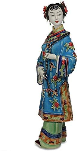 YsKYCA Estatua Escultura Decoración,Adornos Estatuas Y Figuritas Figuras De Porcelana De Ángeles Antiguos De Cerámica De Figura Femenina De Arte Pintado