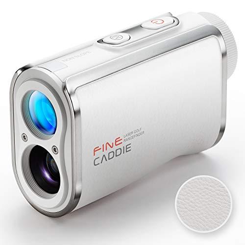 FineCaddie(ファインキャディ) J100 White ゴルフ 距離計 レーザー距離計 充電式 1,093yd測定 距離測定器 高低差測定 スロープモードON/OFF可能 PUレザー防水 IPX4防水 超軽量 6倍率広視野角 ケース付き 保証2年 メーカー直営 FineCaddie