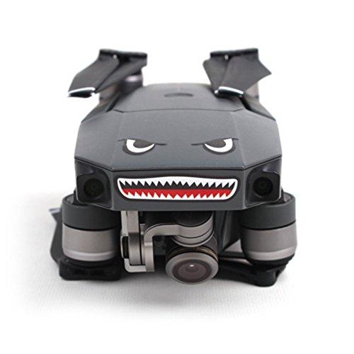 Shark Sticker Decal Waterproof Anti Scratch Skin Guard for DJI Mavic Pro and DJI Spark Drone By Crazepony-UK