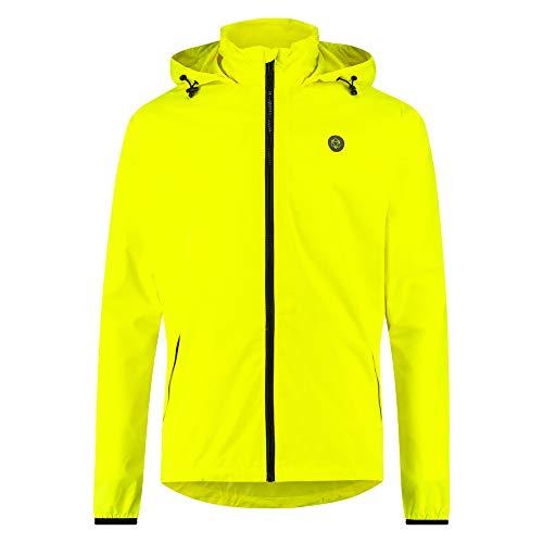 AGU GO Essential Regenjacke Damen & Herren, Fahrradjacke Wasserdicht & Winddicht, Atmungsaktiv, Reflektierend, Unisex, S, Gelb
