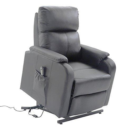 CARO-Möbel Relaxsessel Senior Fernsehsessel Ruhe TV Sessel mit elektrischer Aufstehfunktion, verstellbare Rückenlehne und Fußteil grau anthrazit
