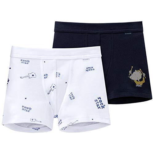 Schiesser Jungen Multipack 2PACK Shorts Unterwäsche, Mehrfarbig (Sortiert 4), 104 (2er Pack)