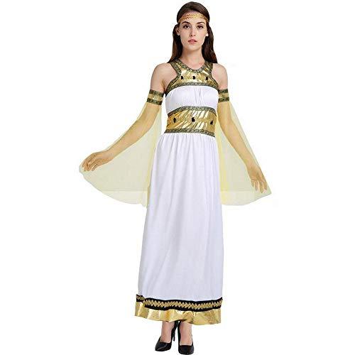 MU Disfraz de Cosplay Disfraz de Cosplay de Halloween Diosa rabe Yan Despus Del Antiguo Disfraz de Reina de Platino Egipcio,Color de la fot,Un tamao