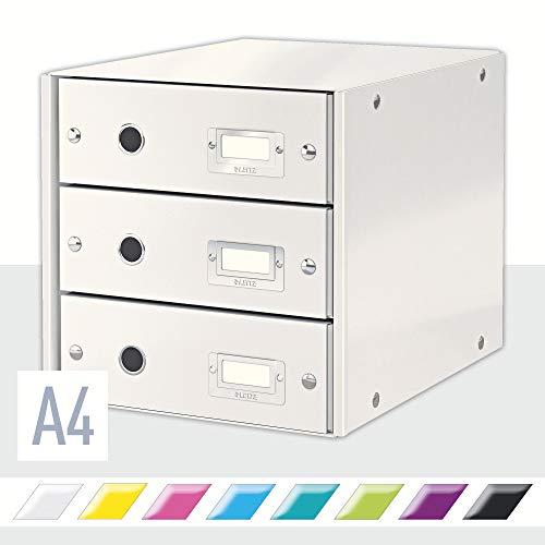Leitz Click & Store Schubladenset, 3 Schubladen, A4, weiß, 60480001