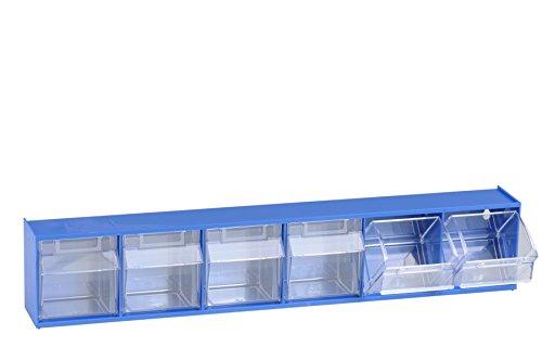 hünersdorff Klarsichtbehälter / Aufbewahrungsbox / Riegel für ein optimales MultiStore-Lagersystem im Baukastenprinzip aus hochschlagfestem Kunststoff (PS), Nr. 6