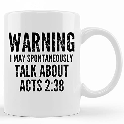 Personalized Acts Two Thirtyeight Coffee Mug, Pastor Appreciation Gift, Gifts For Pastors, Funny Christian Mugs,...