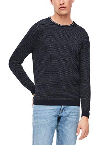 s.Oliver Herren Langarm Pullover, Blue, XL