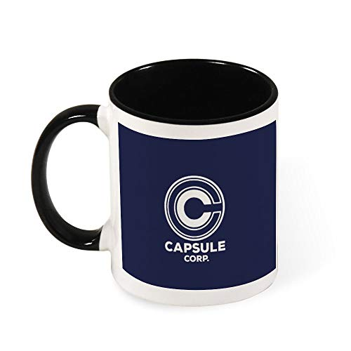Capsule Corp Dragon Ball Z, taza de café de cerámica con tapa de camionero, regalo para mujeres, niñas, esposa, mamá, abuela, 11 oz