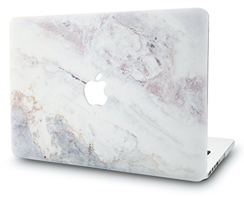 KECC Laptop Case for MacBook Air 13' Retina (2020/2019/2018, Touch ID) Plastic Case Hard Shell Cover A2179/A1932 (White Marble 2)