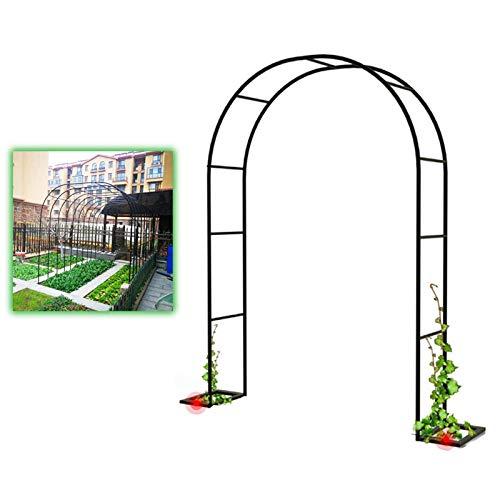 Outech Arco de Jardín Pérgola Cenador, Enrejado de Arco de Rosas Resistente de Metal, para Enredaderas y Plantas Trepadoras, Bodas, Quinceañeras, Decoración de Fiestas