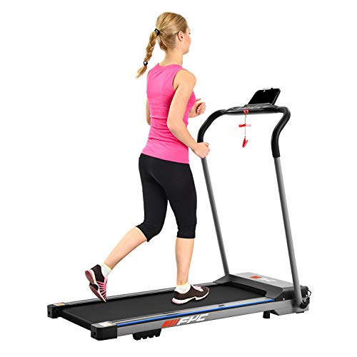 Price comparison product image FYC Folding Treadmill for Home Portable Electric Treadmill Running Exercise Machine Compact Treadmill Foldable for Home Gym Fitness Workout Jogging Walking,  No Installation Required (JK1608E-1)