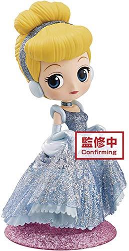 BanPresto - Disney Glitter Cinderella Q posket Figure, Multicolore, One Size
