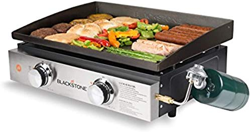 """Blackstone 1666 Tabletop Griddle with Stainless Steel Front Plate - 22"""""""