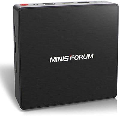 Desktop Mini PC Intel Celeron N3060 Processor (up to 2.48GHz),4G DDR3/64GB eMMC Windows 10 HDMI&VGA Dual Display USB 3.0/BT 4.2 Dual WiFi
