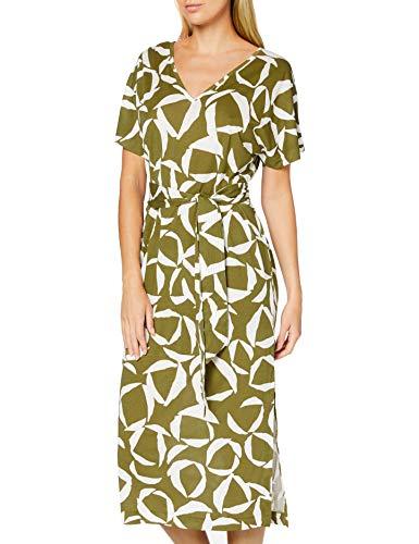 Gant D1. Cresent Bloom Jersey Dress Vestido, Olive Green, M para Mujer