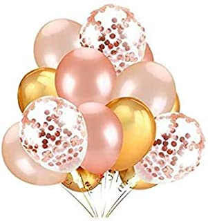 Beauenty 40PCS Gold & Rose Gold & Confetti Latex Balloons Set for Weddings Birthday Party Decoration,Bridal & Baby Showers...