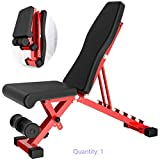 XXRR Home Gym - Banco de peso ajustable plegable para entrenamiento, fitness, hogar, abdominal, multifunción, silla plegable