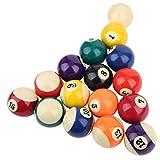 Liukouu Bola de Billar de Resina para Interiores, Bola de Mesa de Billar de 2 Pulgadas, Juego de Bolas de Billar de Colores, Accesorio de Billar para Sala de Juegos de Billar