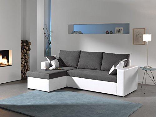 Bestmobilier - Orlando - Canapé d'angle Convertible réversible 4 Places - 225 x 145 x 85cm