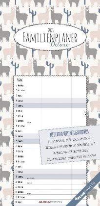 Familienplaner Deluxe - Kalender 2021 - Alpha Edition-Verlag - Wandkalender mit bezaubernden Illustrationen und 4 Spalten zum Eintragen - Familienkalender - 21,8 cm x 44,8 cm