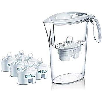 Laica J996 Kit 6 filtri (6 mesi di acqua filtrata) + 1 Caraffa Filtrante Stream Line in omaggio (colori assortiti), 100% made in Italy