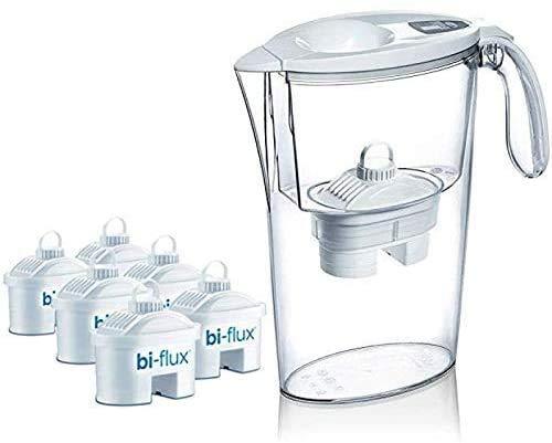Laica J996 Kit 6 filtri (6 mesi di acqua filtrata) + 1 Caraffa Filtrante Stream Line in...