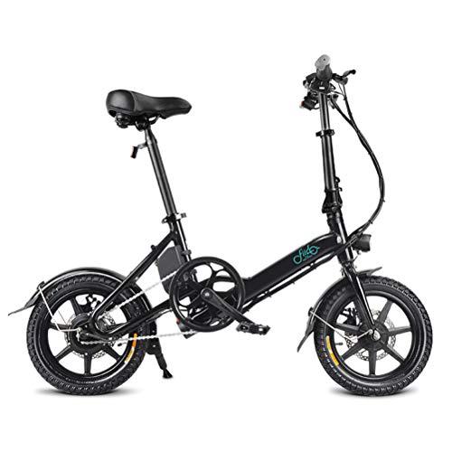 ZARQ Vélos Électriques pour Adultes, FIIDO D3 E-Bike Pliant 250W 36V 14 Pouces Pneus Vélo Électrique Batterie au Lithium-ION Vélos Électriques pour Adultes et Adolescents