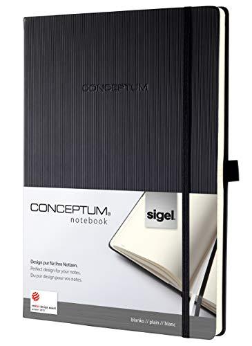 Sigel, CONCEPTUM®, notitieboek hardcover, notitieboek ca. A4 / blanco ca. A4 zwart