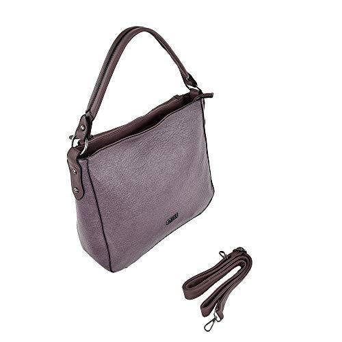 COVERI COLLECTION Damen Kunstledertasche mit Griff und Schultergurt, Pink - Rosa Cipolla - Größe: Large