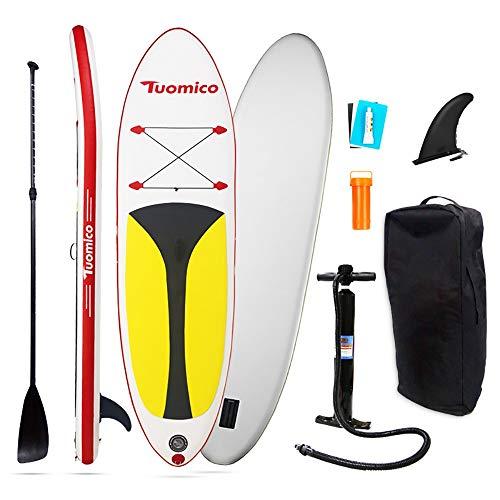 NgMik Tabla De Surf Inflable Prima Inflable Stand Up Paddle Board (15 Cm De Espesor) con Los Accesorios Sup Duraderos Estable (Color : Red, Size : 297x76x15cm)