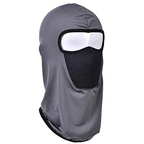 Unisex Moto Maschera Viso Sport All'aperto Vento Cap Ciclismo Passamontagna Maschera Viso Outdoor Ski Full Face Mask Casco grigio Taglia unica