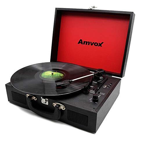 Vitrola Amvox Case em Madeira USB 10W AVT1199 Preta - Bivolt